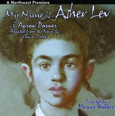 "The poster announcing ""My Name is Asher Lev"" at the Broadway Center for the Performing Arts and the Lakewood Playhouse"