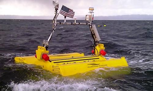 A prototype of a wave-energy buoy