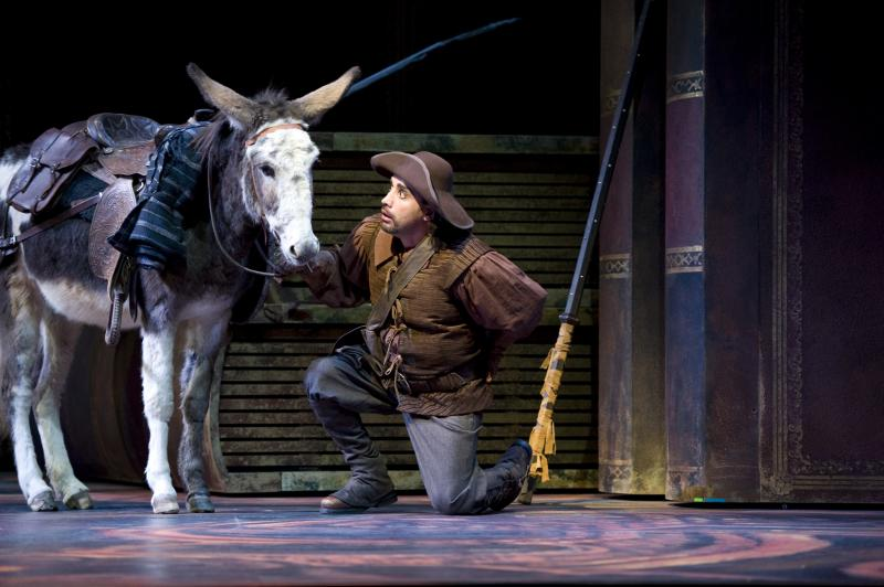 "Millie as Dapple and her human co-star Richard Bernstein in Seattle Opera's production of ""Don Quixote."""