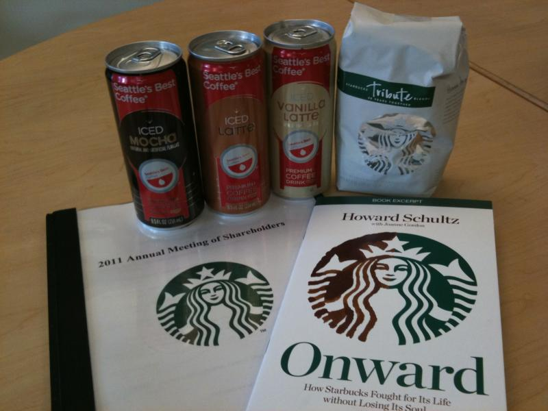 Takeaways from the Starbucks 2011 Annual Meeting included an excerpt of Howard Schultz's latest memoire and canned iced latte beverages from the Seattle's Best Coffee line.