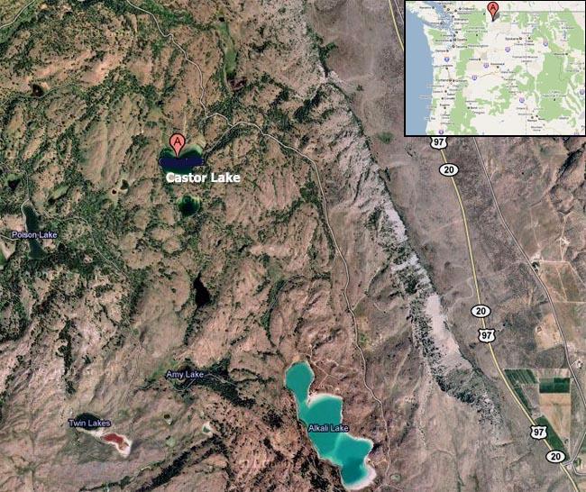 Map of Castor Lake.