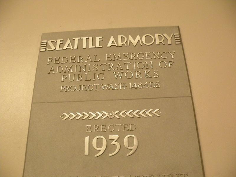 A plaque in the basement.  Demolition work could be difficult since the walls here were built to last.