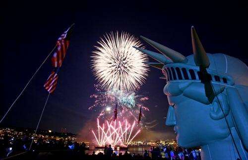Seattle's July 4th fireworks extravaganza, known as the Family 4th, produced by the nonprofit One Reel, will take place again this year, after enough funding was secured. Still, the agency is short of its budget.