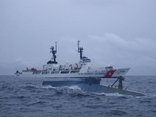 Coast Guard Cutter Midgett interdicts drug smuggler 335 miles off the coast of Costa Rica  1/20/2011