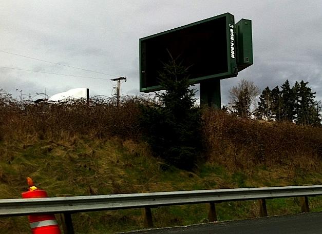 Electronic billboards like this one (along I-5 in north Pierce County) are a hot topic of hot debate in the city of Tacoma.