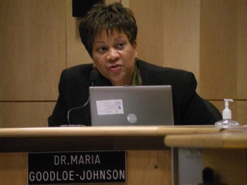 Seattle Schools Superintendent Maria Goodloe-Johnson faces a school board vote of termination of her contract at their Wednesday. March 2nd meeting.