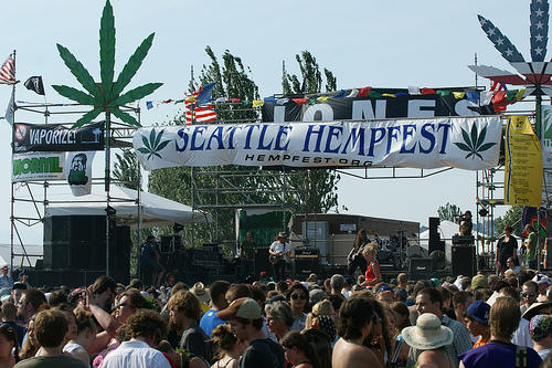 The 2008 Hempfest in Seattle.