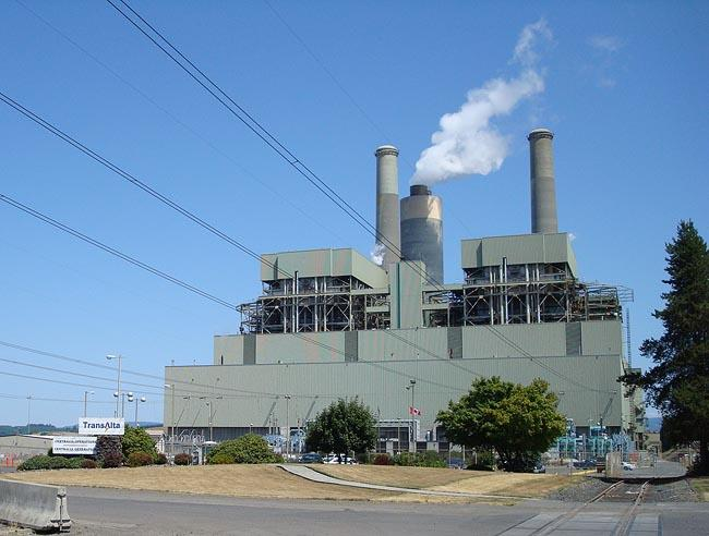 File photo of the TransAlta coal plant in Centralia