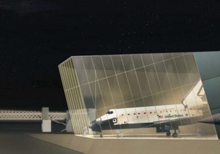An artist's rendering of the new gallery plan at Seattle's Museum of Flight, a gallery intended to permanently lure a NASA Space Shuttle. The agency will announce the winners of the competition to host the retiring spacecraft Tuesday at 10am PST.