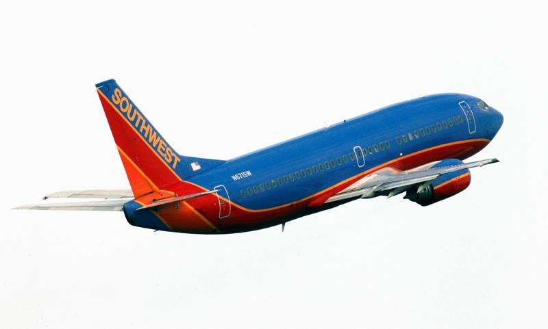 A Southwest Airlines jet, a Boeing 737-300, takes off from the Tampa, Fla., airport in January. The plane is coming under scrutiny after a section of a Southwest Airlines jet ripped open during a flight in the skies of Arizona last week.