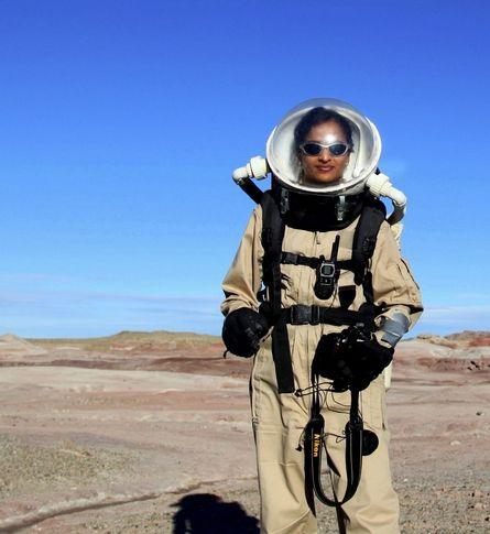 Kavya Manyapu lived and conducted experiments as an astronaut  would on Mars at the Mars Desert Research Station in Utah.