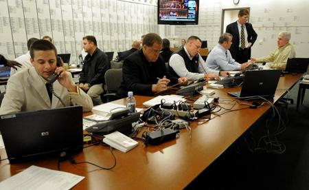 "A so-called ""war room"" during the 2010 NFL draft. Art Thiel wants to do away with the phrase in relation to the draft. He says a serious military term that describes where life-and-death decisions are made has no place in sports."