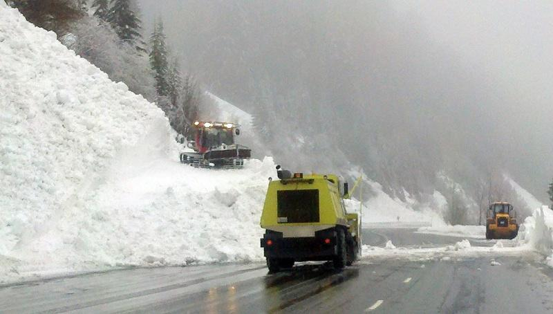 An avalanche 15-feet deep - and three other separate avalanches - covered US Highway 2 at Stevens Pass Wednesday, and the road has been closed for state transportation workers working to clear it for reopening.