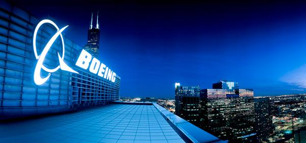 Boeing headquarters in Chicago. The aerospace giant's first quarter profits exceeded analysts' expectations.
