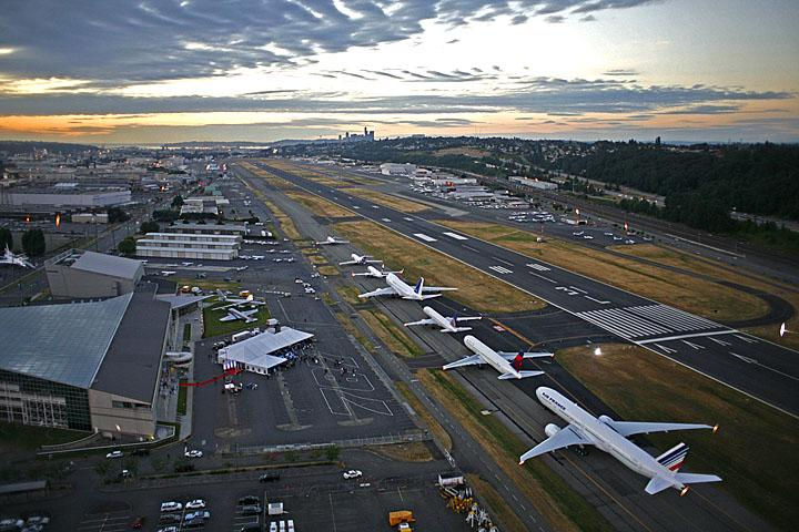 An air traffic controller has been suspended after falling asleep on the job at Boeing Field (officially King County Airport).