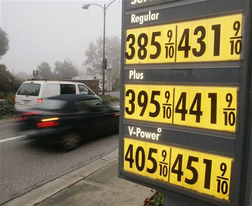 The AAA auto club reports the average price of a gallon of regular gasoline in Washington is $3.88.