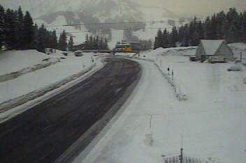 Traction tires were advised this morning over Stevens Pass, where a fresh layer of snow fell Wednesday night and Thursday morning.