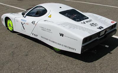 Western Washinton University Viking 45 is an Automotive X Prize finalist.  WWU is the only remaining American university team is backed by a legacy of fuel mileage records dating back to the mid-1970s.