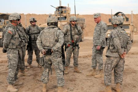 Soldiers from the Washington National Guard 81st Brigade Special Troops Battalion, 81st BCT, during training Feb. 2009 in Iraq.