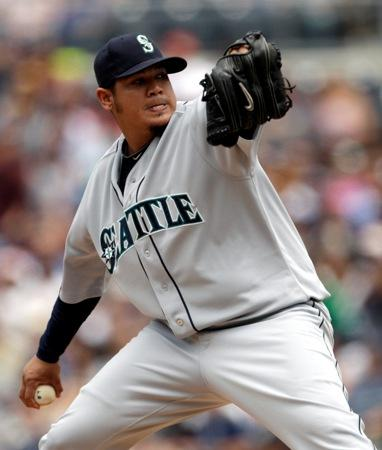 Felix Hernandez pitches the Mariners to a 6-1 victory over the Padres on Sunday, May 22. The Mariners swept the three-game series, and their strong starting pitchers were a big reason why.