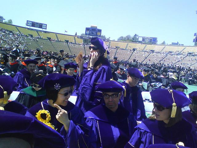 University of Washington commencement ceremonies at Husky Stadium, 2009