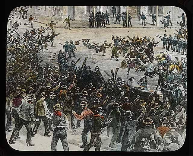 The Seattle Riot. Harpers Magazine, March 6, 1886. Image from the UW Digital Collection.