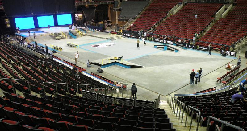 The Street League Pro Tour course at Key Arena