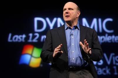 Microsoft CEO Steve Balmer.