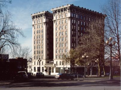 The Frye Apartments as they look today.