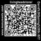 The QR code affixed to David Quiring Sr.'s tombstone.