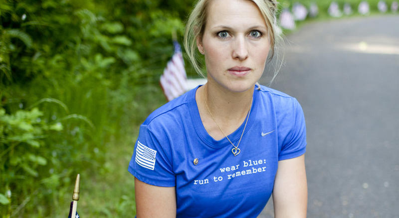 Lisa Hallett, whose husband was killed in Afghanistan is one of the founders of Wear Blue: Run To Remember.