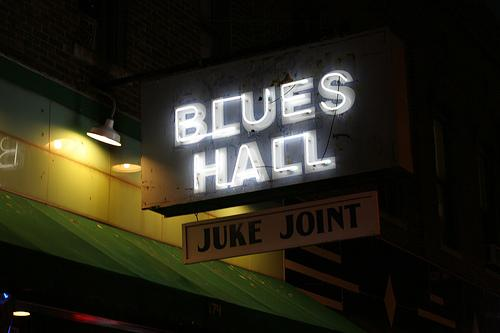 A blues joint on Beale Street in Memphis, Tenn.