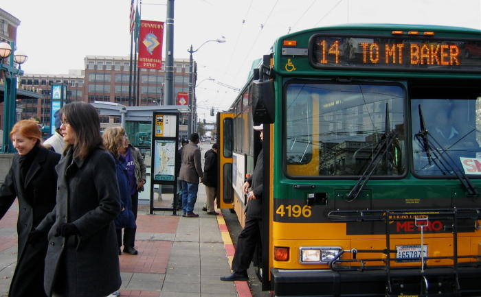 In a newly released survey, commuters say they take public transit more than any other means of transportation to work in downtown Seattle.