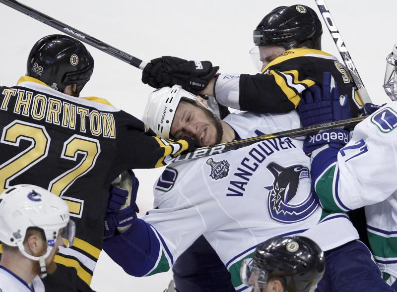 The Vancouver Canucks took a beating in Boston last night and will have to play Game 7.
