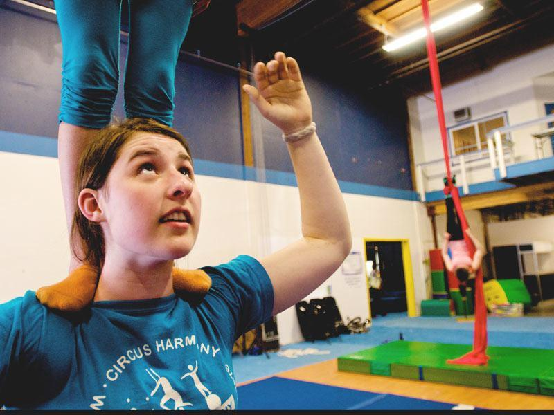 Anna Partridge of Mercer Island was one of the first students at The School of Acrobatics and New Circus Arts when it opened in 2004. She'll be spending her summer as part of a children's circus troupe in Vermont.