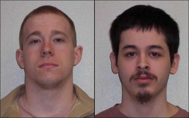Clallam Bay inmates Kevin Newland (left) and Dominick Maldonado.