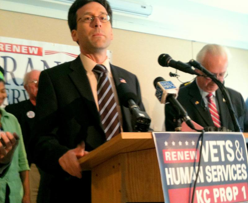 King County Councilmember Bob Ferguson and others made a pitch for the Veterans and Human Services Levy on Wednesday.