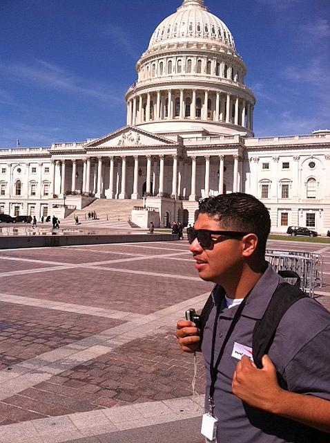 Chino Celedon-Perez, a high school senior from Tacoma, is in D.C. with other youths from the Puget Sound region pushing for passage of the Youth Promise Act.