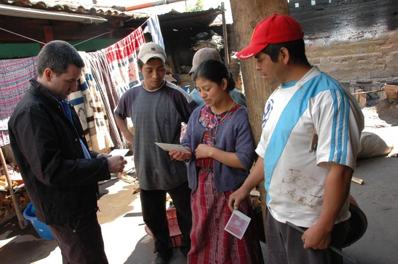 Seattle has a plethora of organizations helping people around the world. (Pictured is Seattle International Foundation's Mauricio Vivero in Guatemala, checking on a Seattle-funded microfinance project). A new organization wants to connect them all.
