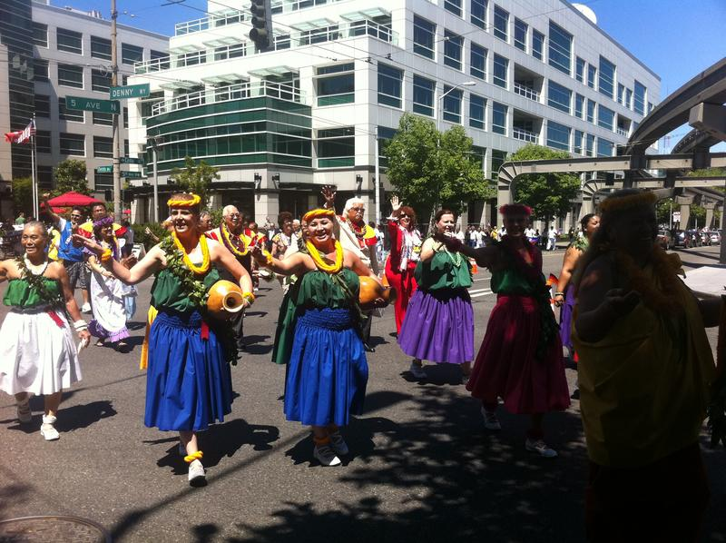 The Lions Club's Parade of Nations took over downtown Seattle on Tuesday July 5, 2011.