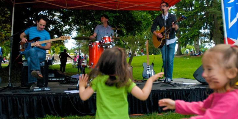 Recess Monkey -- Jack Forman, Daron Henry and Drew Holloway -- perform at Auburn Kids Day 2011.