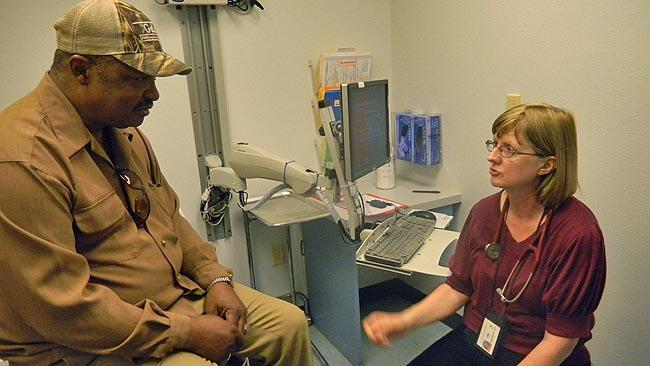 Dr. Peggy Eaton sees low-income patients at a community health clinic in Seattle.