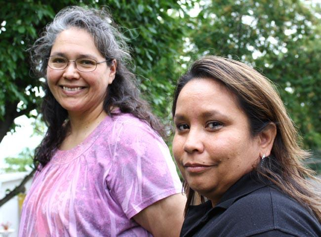 Alberta Sena, left, and Dorothea Skalicky, right, both grew up on the Nez Perce Reservation in Idaho. They are part of a settlement with the Northwest Jesuits over clergy sex abuse.