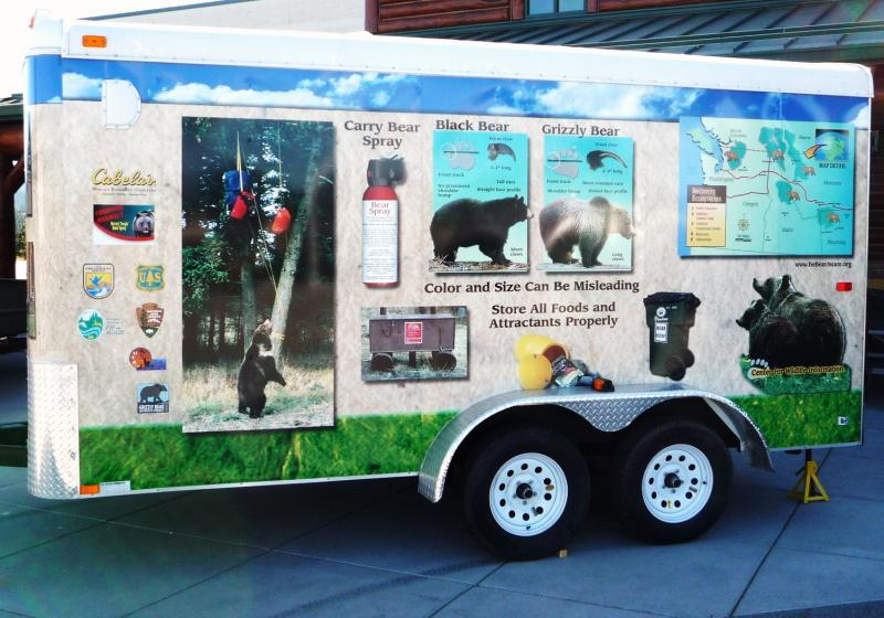 "The U.S. Fish and Wildlife Service has been touring the Northwest in a ""bearmobile"" this summer, stopping at fairs and sporting goods stores to educate the public on bear safety."