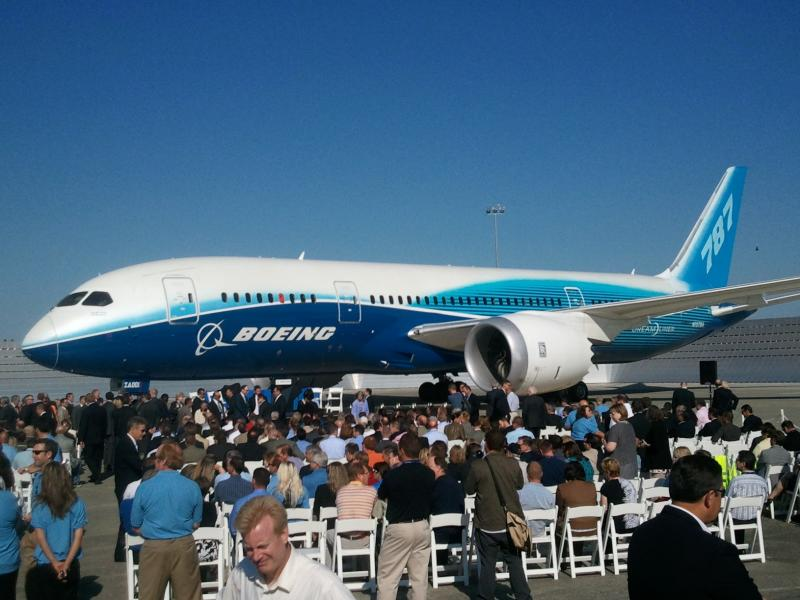 The first assembled 787 Dreamliner was displayed at the facility in Everett on Friday when the FAA's officials handed Boeing a Type Certificate allowing the plane to be delivered.