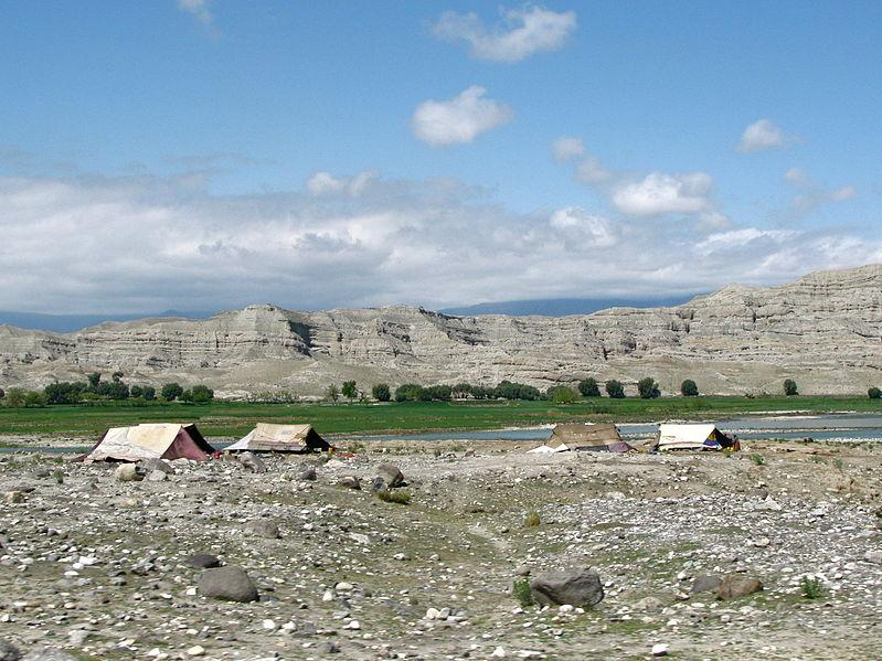 The tents of displaced Afghans still dot the countryside.