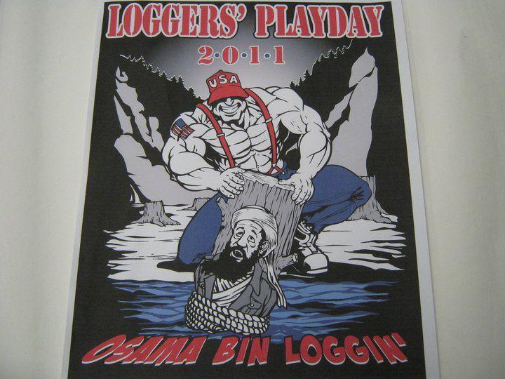 View of the T-shirt design from the Hoquiam Logger's Playday's Facebook page.
