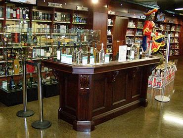 The store's tasting bar