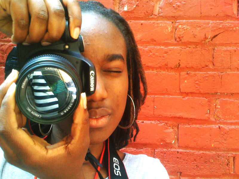 Khatsini Simani is documenting downtown Seattle as part of a summer participant in the Youth in Focus program. The program empowers young people through photography.