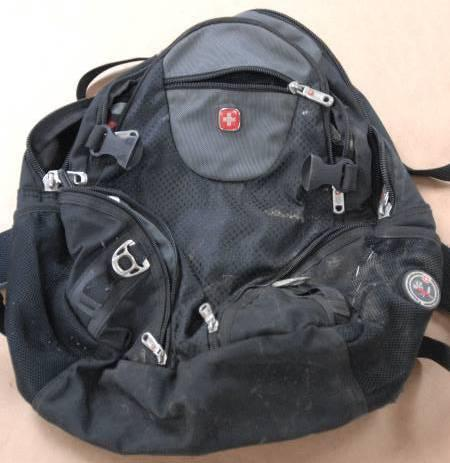 An FBI evidence photo shows the backpack that held a pipe bomb. It was found along the route of Spokane's Martin Luther King Day parade in January.